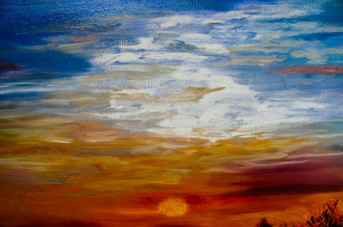 Sunset, dunes of Wassenaar